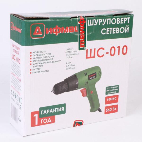 Сетевой шуруповерт Дифмаш ШС-010